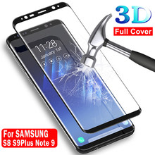 3D Screen Proetctor For Samsung Galaxy S8 S9 Plus Note 8 9 Tempered Glass Curved edge For Samsung Note9 Note8 S 8 9 9Plus 8Plus(China)
