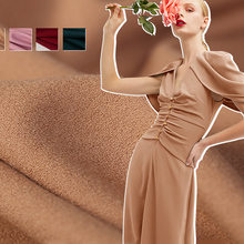 145cm spring new style texture vertical weight wool crepe fabric Magic Goddess micro-elastic dress fabric