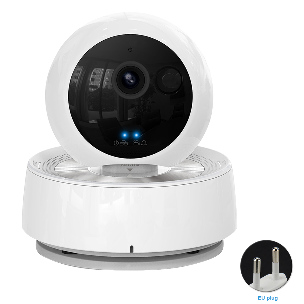Night Vision 360 Rotating IP Camera Dog Cat Pet Monitor 1080P HD Surveillance Indoor Video Two Way Audio Wireless Smart WIFI