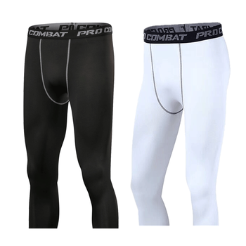 Quick-drying Pants Sports New Men's Leggings Joggers Solid Color Thin Polyester MAGGIE'S WALKER Fitness Running Cropped pants color block sports stirrup leggings
