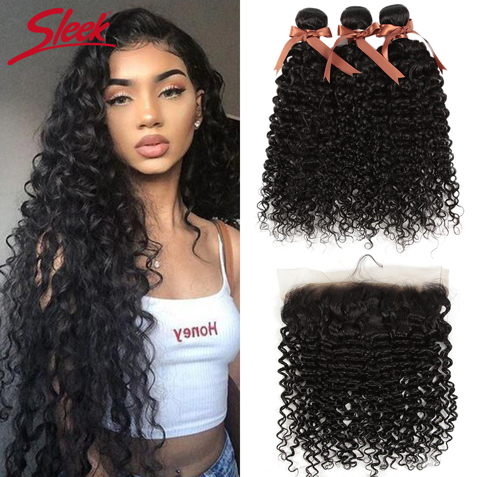Sleek Hair Water Wave Bundles With Frontal Wet And Wavy Bundles With Frontal 3 Bundles With Frontal Lace Frontal With Bundles