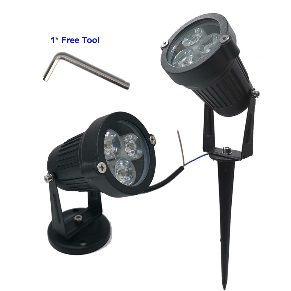 9W Waterproof Lights LED Lawn Lamp 110V 220V Landscape Spot Light IP65 110 V 220 V Outdoor Lighting Lamps Spike Light For Garden