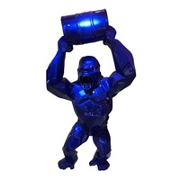 Big 16 King Kong Creative Decoration Art Craft Animal Simulation Resin Statue Gorilla Bust Figure Collectible Model Toy BOX