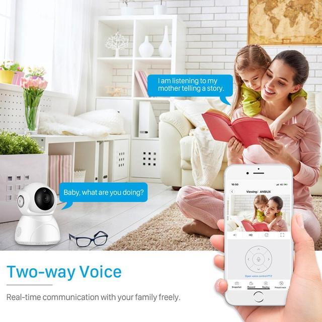 Caméra de surveillance IP WiFi hd 3MP (V380), dispositif de sécurité domestique sans fil, avec suivi ia, panoramique/inclinaison, Vision nocturne, Cloud P2P, application 5