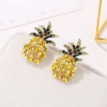 HOCOLE Fashion Crystal Earrings For Women 2019 Brincos Geometric Pineapple Shape Rhinestone Drop Earring Bohemian Jewelry Gifts