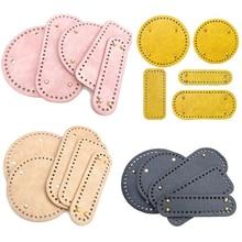 5 Types High Qualtiy Round Leather Bottom With Holes Rivet For Knitting Bag Handbag Diy Women Shoulder Crossbody Bag Accessories
