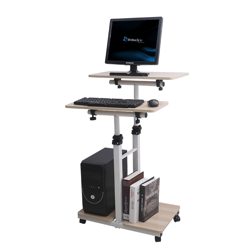 Lifting Table Computer Table Standing Laptop Computer Moving Bedside Home Table Office Station Table Weight Loss Table