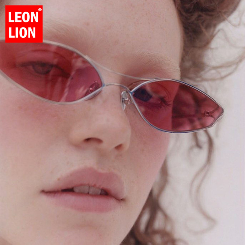 LeonLion Cateye Retro Sunglasses Women 2019 Vintage Glasses For Women/Men Luxury Sunglasses Women Small Oculos De Sol Feminino