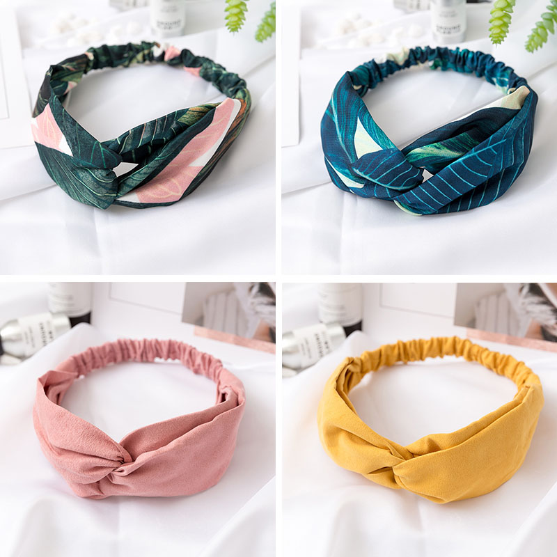 Fashion Women Headbands Cross Knot Turban Elastic Hair Bands Headwrap Girls Hairband Hair Accessories For Women Bandanas