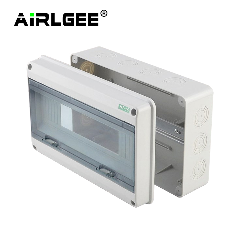 cheapest HT series 5 8 12 15 18 24Ways Household illumination Electrical Distribution Box MCB Waterproof Junction Wire Box ABS PC Plastic