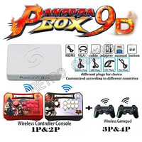 Pandora Box 9D Wireless 4 Players console Set 2500 in 1 have 3D game arcade stick controller and gamepad HDMI VGA For TV pc ps3