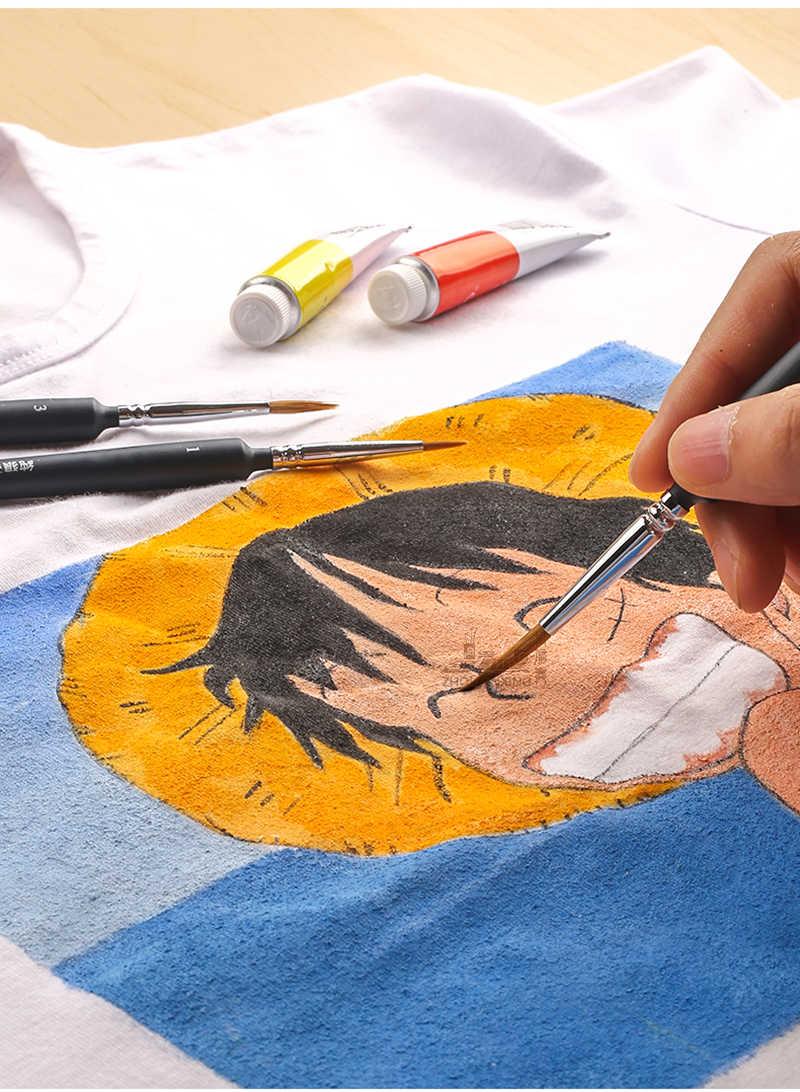 10 Stuk Soort Haak Lijn Pen Aquarel Zacht Haar Olieverf Extra Fijn Wezel Haar Handgeschilderde Borstel Gouache Acryl schilderen