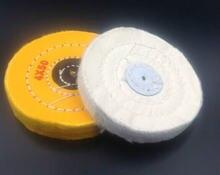 1 белый полировальный круг из хлопка фланелевая полировальная