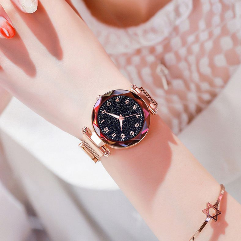 Luminous Watch  Women Watches Fashion Elegant Magnet Buckle Mysterious Wristwatch Starry Sky Clock For Girlfriend Dropshipping 5