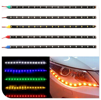2pcs Car parts LED Strip Light Lamp Waterproof Flexible for BMW F15 X5M E71 E87 E63 E64 F06 X6 X6M E82 E46 E90 image