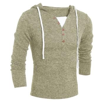 Jesienny i zimowy męski sweter męski sweter z dzianiny w stylu casual męski jednolity kolor sweter z kapturem obcisły sweter męski sweter tanie i dobre opinie HKTY CN (pochodzenie) Cienka wełna Na co dzień Komputery dzianiny Poliester COTTON Stałe Skręcić w dół kołnierz