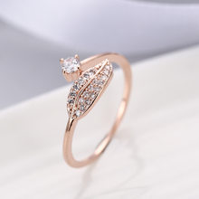 Wedding Rings For Women Charms Queen Princess Ring Round Personality Creative Leaf Index Finger Engagement Jewelry Drop Shipping(China)
