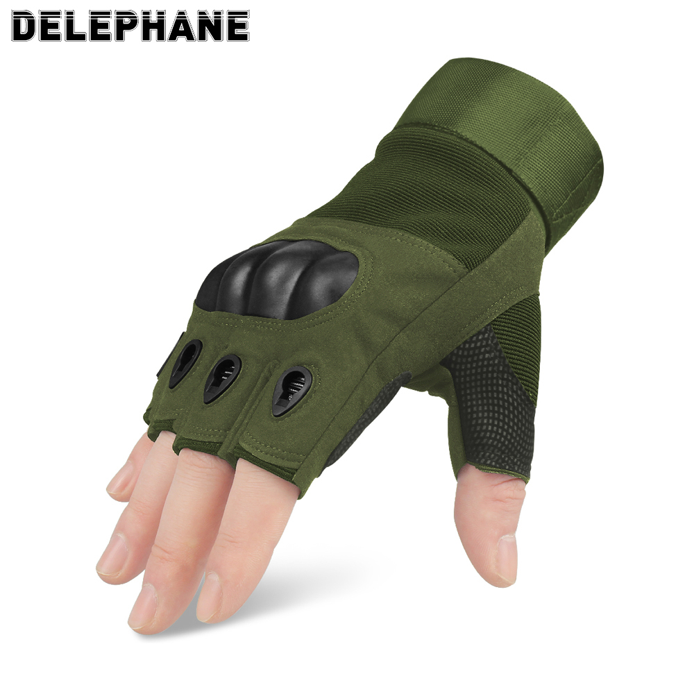 Summer Men Women Tactical Gloves Fingerless Knuckles Protection Driving Hand Gloves Touch Screen Military Army Glove Half Finger