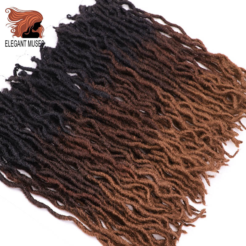 ELEGANT MUSES Goddess Nu Locs Soft Crochet Hair Braids 12 18Inch Faux Locs Curly Synthetic Hair Pre Loop Crochet Braiding