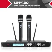 XTUGA UHF Dual Wireless Handheld Dynamic Karaoke Microphone System with Echo, Delay, 2020 New, , 328 Ft Range, for TV Karaoke