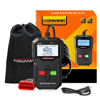 цена на KONNWEI ODB2 Automotive Scanner KW590 OBD2 OBD Diagnostic Scanner in Russian Car Code Reader Auto Scanner Better AD310 ELM327