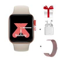 IWO12 Smart Watch +Earphone+Strap Serie 5 Smartwatch Men Women For Samsung Huawei Xiaomi Iphone Phone Upgrade for IWO 8 IWO 10
