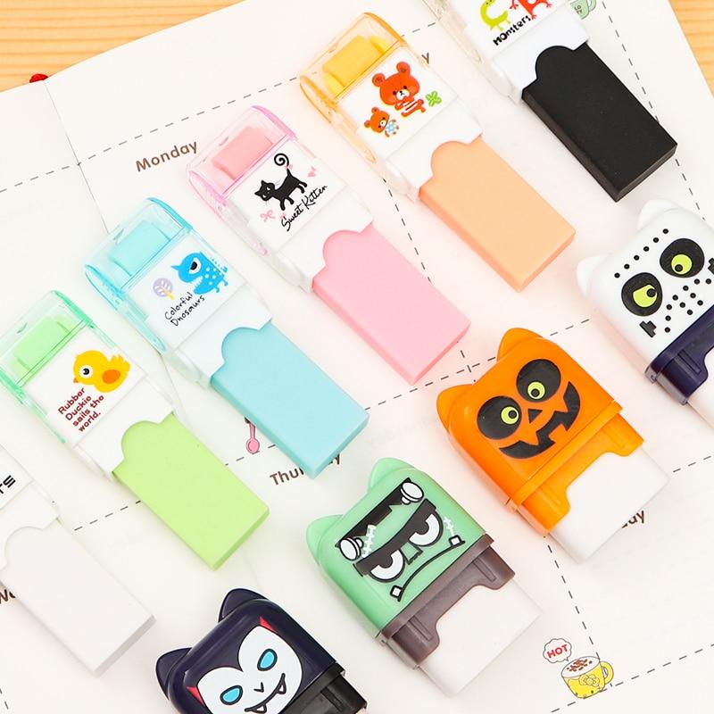 Creative Roller Eraser Cute Cartoon Rubber Kawaii School Stationery Kids Gifts