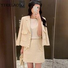 Tweed jacket + skirt suit Small fragrance spring / autumn women's jacket Busines
