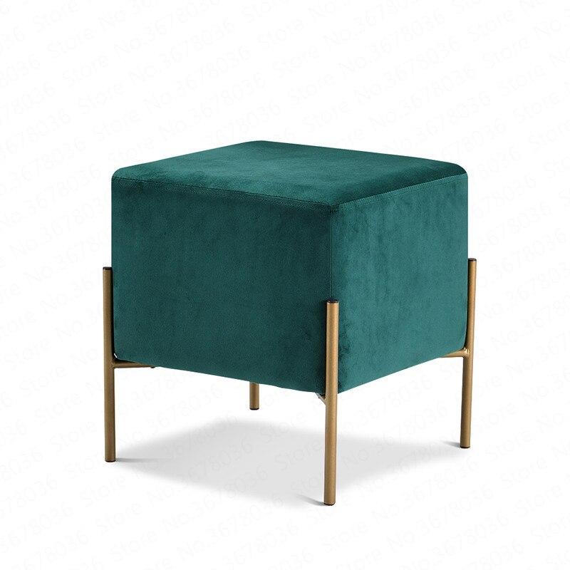 Modern Minimalist Shoe Bench Sofa Small Square Stool Personality Footstool Living Room Fabric Stool