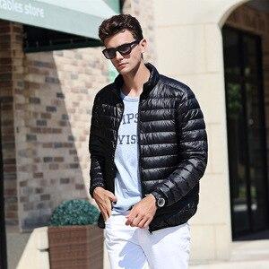 Image 5 - AIRGRACIAS 2018 Top Quality Men Down Jacket Light Thin 90% White Duck Down Jacket Men Parka Casual Outer coat Doudoune Homme