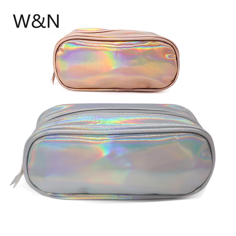 Lridescent Laser Holographic Pencil Case For Girls Cute Big Capacity  Pencil Box Cosmetic Bag Tools School Supplies Stationery