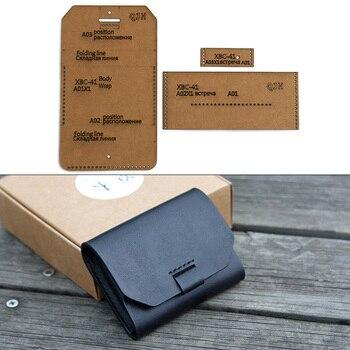 1Set DIY Kraft Paper Template New Fashion Cute Business Card Holder Leather Craft Pattern DIY Stencil Sewing Pattern 9.5cm*7.5cm