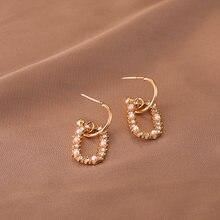 Модные Геометрические Квадратные милые серьги гвоздики с кристаллами