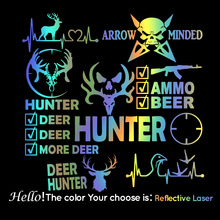 Large Hunter Deer Stickers Ussr Beautiful Deer Frase Car Stickers Hunter Quote Vinyl Decals Accessories Decal Mural
