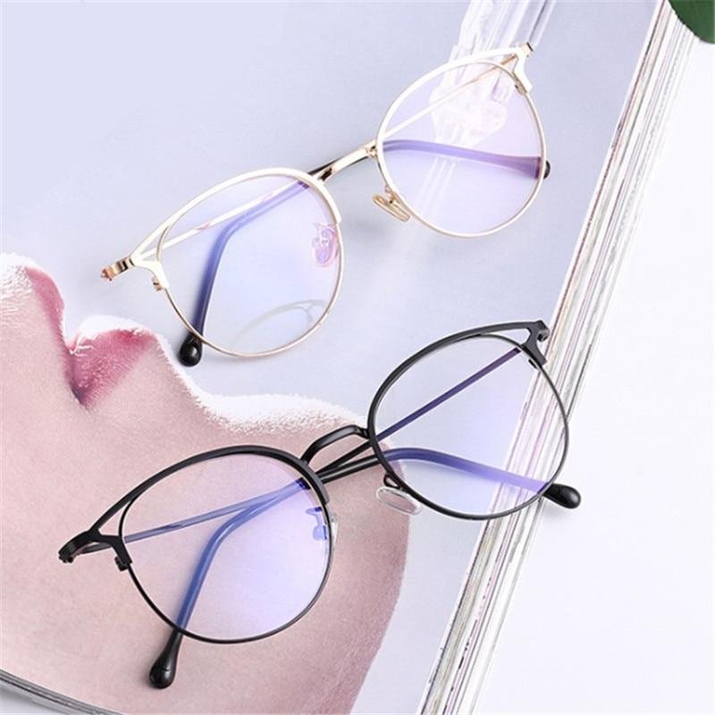 1 Pc New Fashion Anti Blue Light Round Cat Ears Eyeglasse Frame Computer Eye Protection Eyewear Optical Spectacle Glasses Unisex
