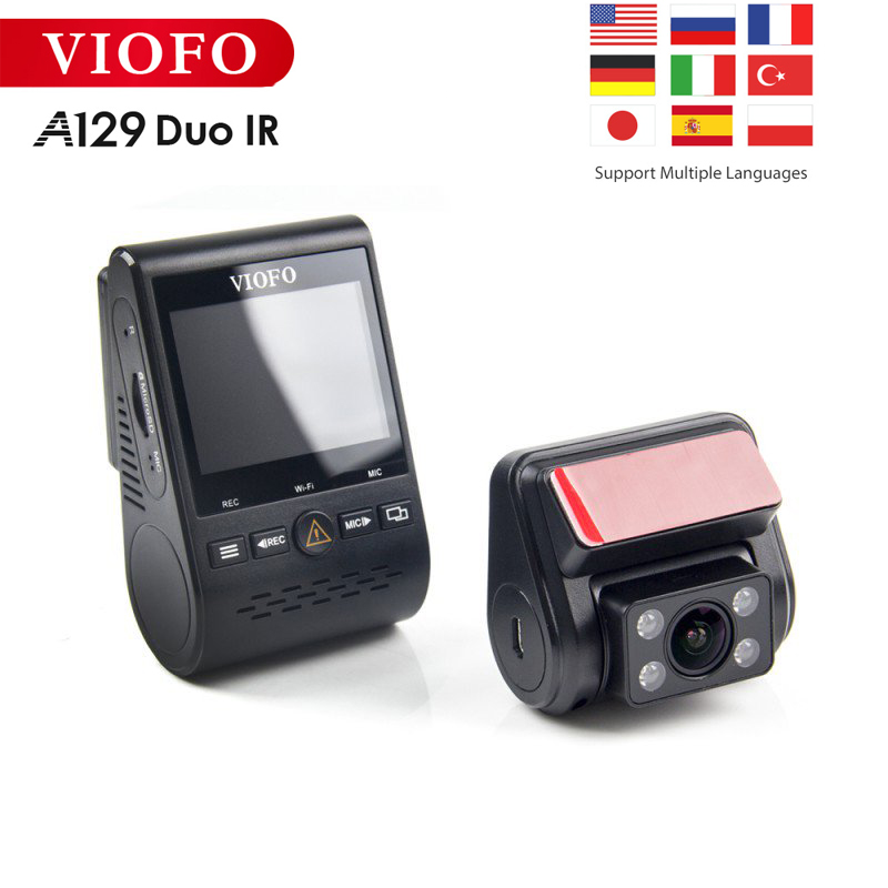Viofo A129 Duo IR Front And Interior Dual Dash Cam Car Camera 5GHz Wi-Fi Full HD 1080P Buffered Parking Mode For <font><b>Uber</b></font> Lyft Taxi image
