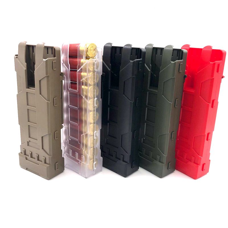 Tactical Shotgun Ammo Magazine Pouch Airsoft Paintball 10 Rounds 12 Gauge Reload Ammo Shells Magazine MOLLE Box Gun Case image