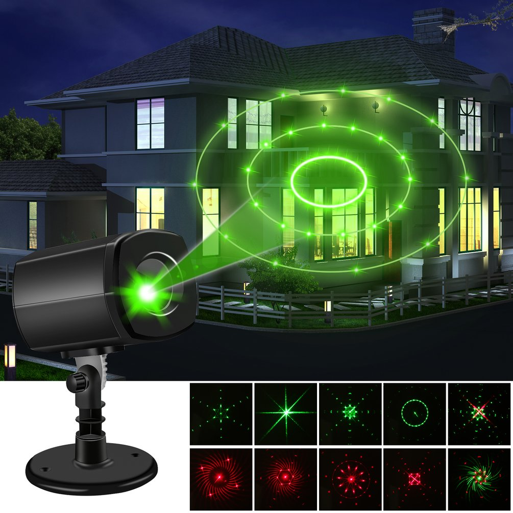 ABS+Aluminum Laser Light Projector With Auto - Timer Feature US UK EU Plug Energy-saving Creating A Twinkling Star World