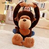 LYDBAOBO 1PC Giant Cartoon Long Arm Orangutan Plush Toy Stuffed Soft Big Mouth Monkey Diamond Doll Kid Children Birthday Gifts