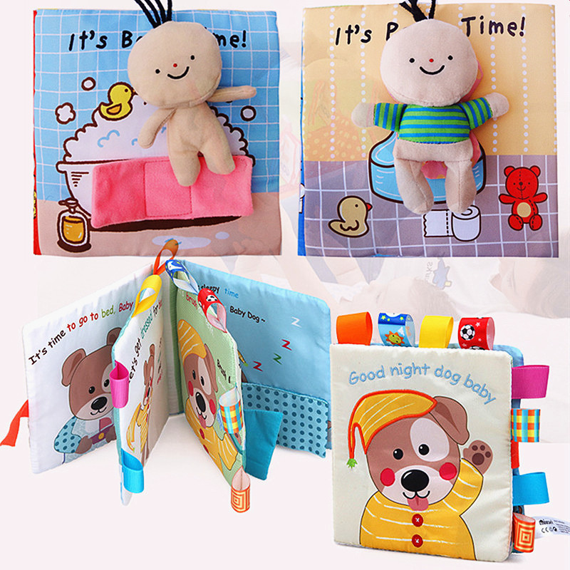 Baby Soft Cloth Book 3D Infant Early Cognitive Development Educational Bath Quiet First Book Interactive Books For Children