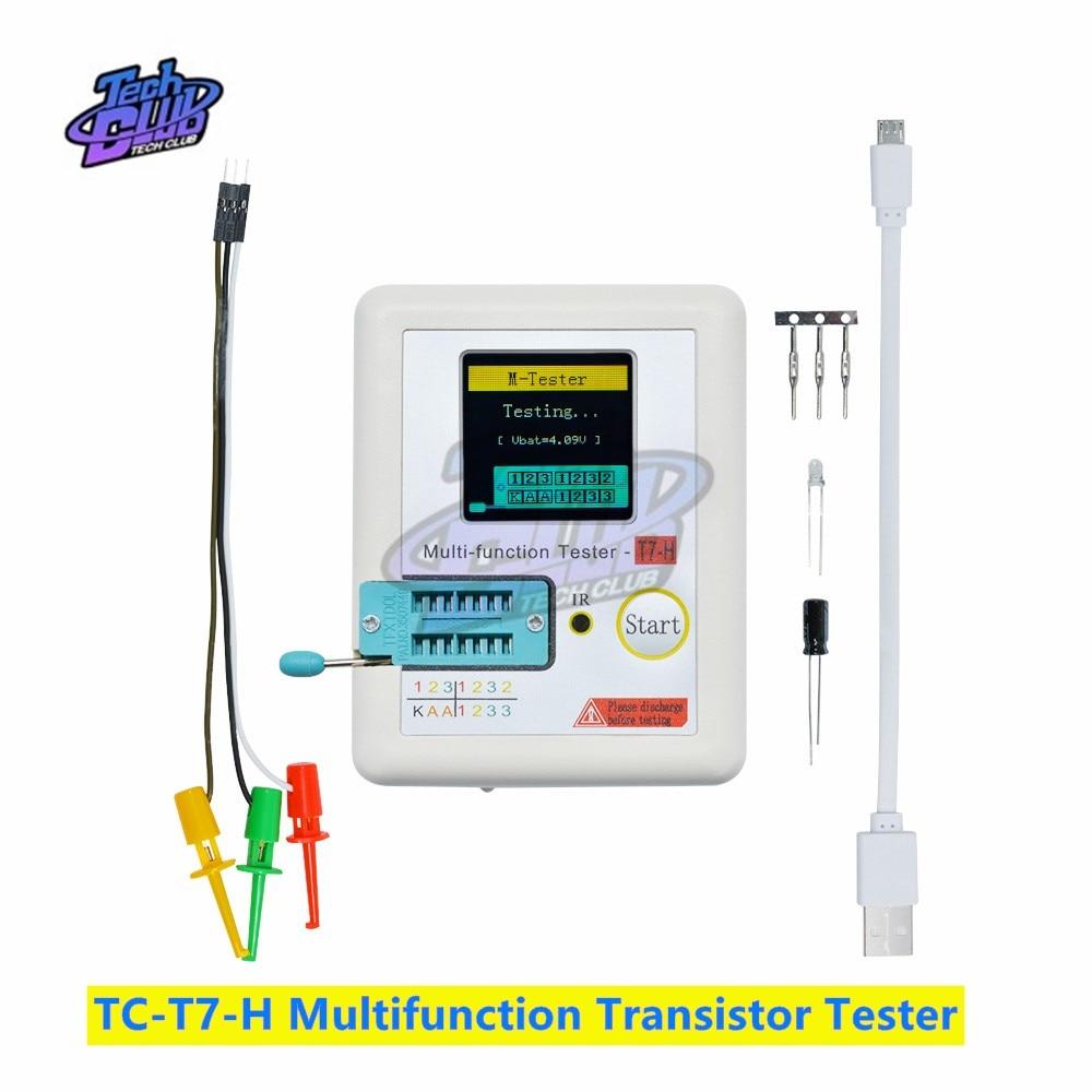 TC-T7-H Multifunction Transistor Tester  Diode Triode Capacitance MOS PNP NPN LCR 128128 TFT LCD Screen Tester Multimeter