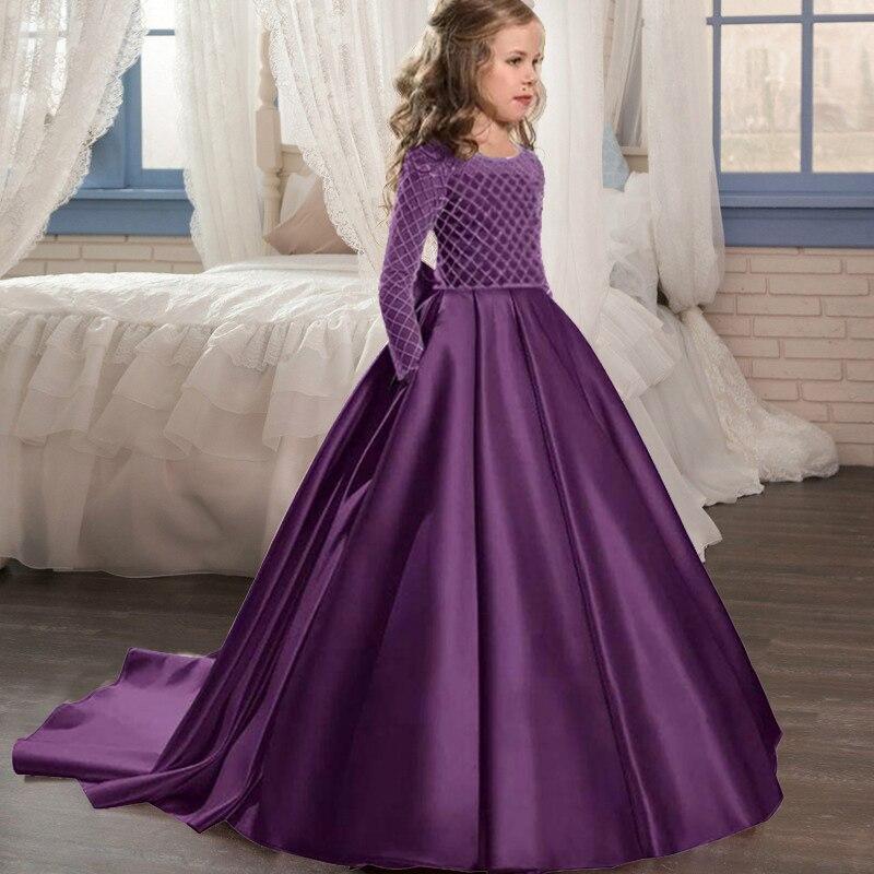 Маленькие платья для девочек, держащих букет невесты на свадьбе; платье для торжеств; платье для девочек, расшитое бисером, на день рождения; платье для первого причастия; бальное платье с длинными рукавами и лепестками - Цвет: yellow
