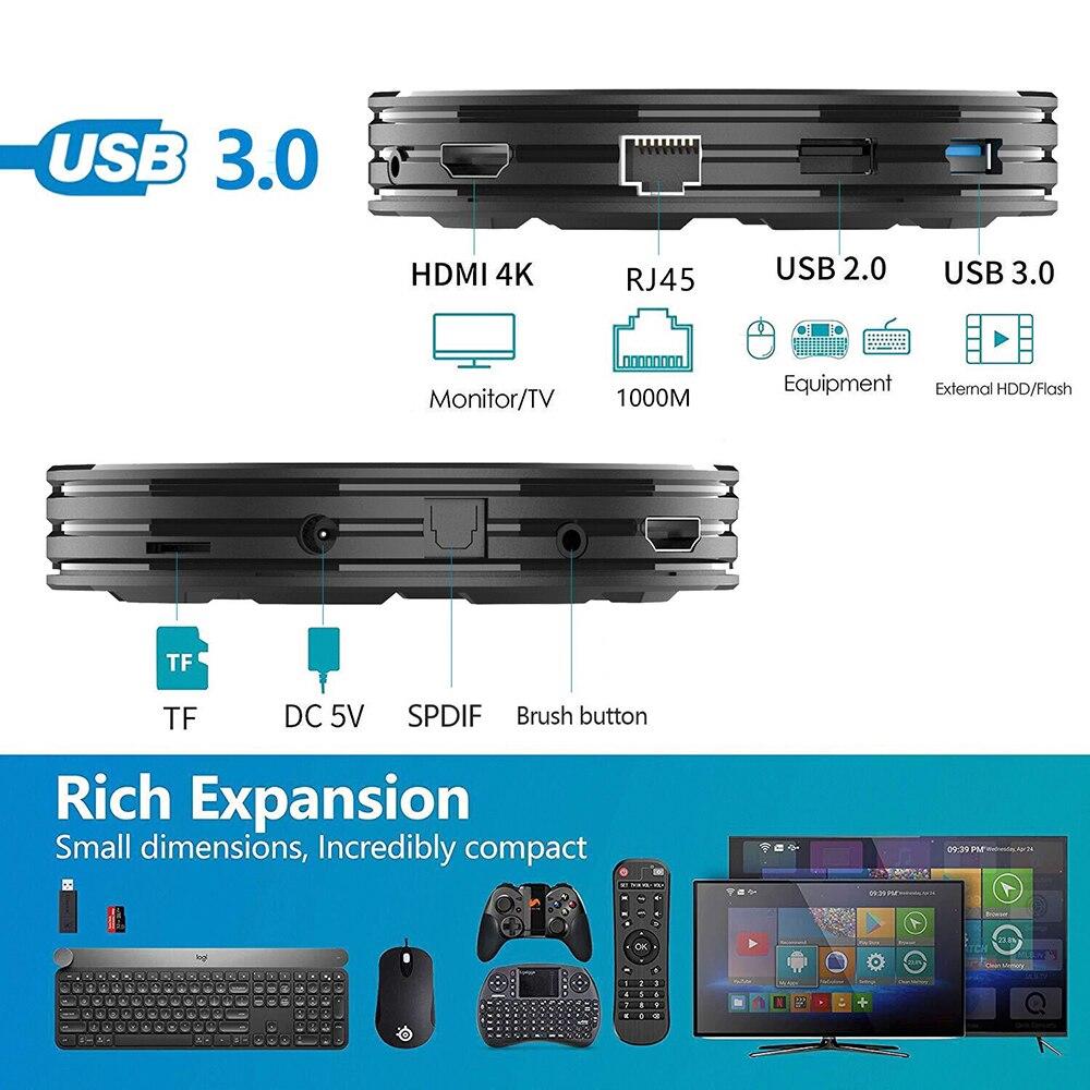HK1 Max Plus RK3368PRO TV Box Android 9.0 4GB 64GB 4K Google Youtube Netflix décodeur HK1 Max Smart TV Box H96 Max KM3 - 2
