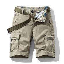 Мужские свободные шорты карго iidossan повседневные камуфляжные