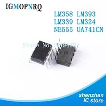 20 штук dip UA741 lm324 lm393 lm339 ne555 lm358-усилителей от lm358n lm324n lm339n lm393n ne555p UA741CN