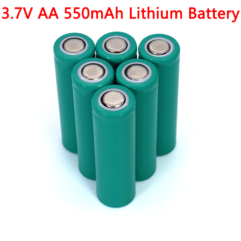 <font><b>3.7V</b></font> AA 550mAh Lithium battery INR14500 ternary lithium batteries for temperature gun, remote control, mouse image
