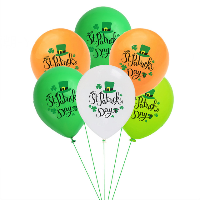 High quality Irish holiday party decoration banner swallowtail flag Saint Patrick party balloon decoration supplies 1