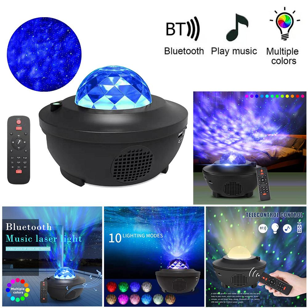 Colorful Starry Sky Galaxy Projector Blueteeth USB Voice Control Music Player LED Night Light USB Charging Projection Lamp Gift(China)