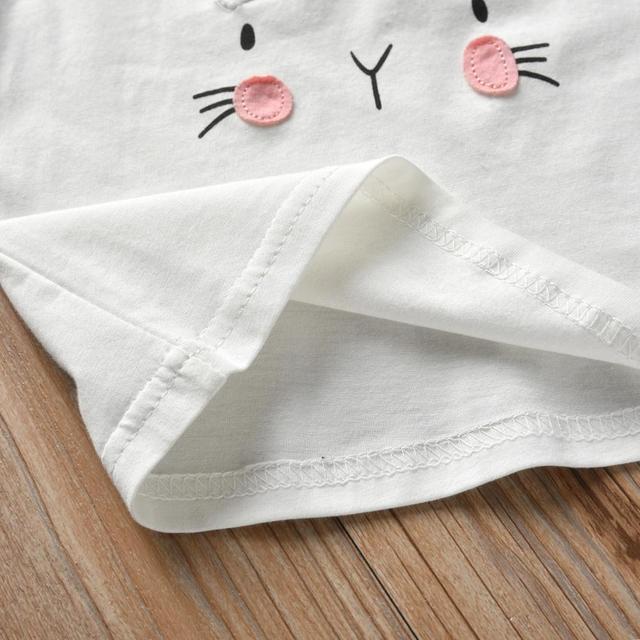Baby Girl's Printed Sweatshirt, Pants and Headband 3 Pcs Set 4