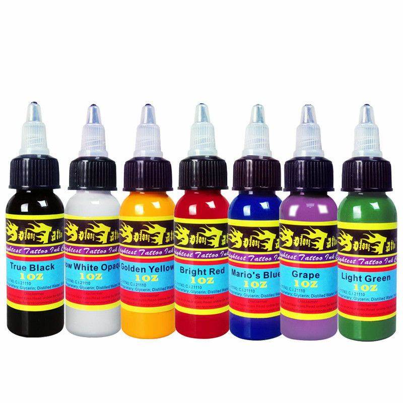 30ML/Bottle Professional Natural Plant Tattoo Pigment Permanent Makeup Tattoos Ink Pigment For Body Art Paint Tattoo Color Inks
